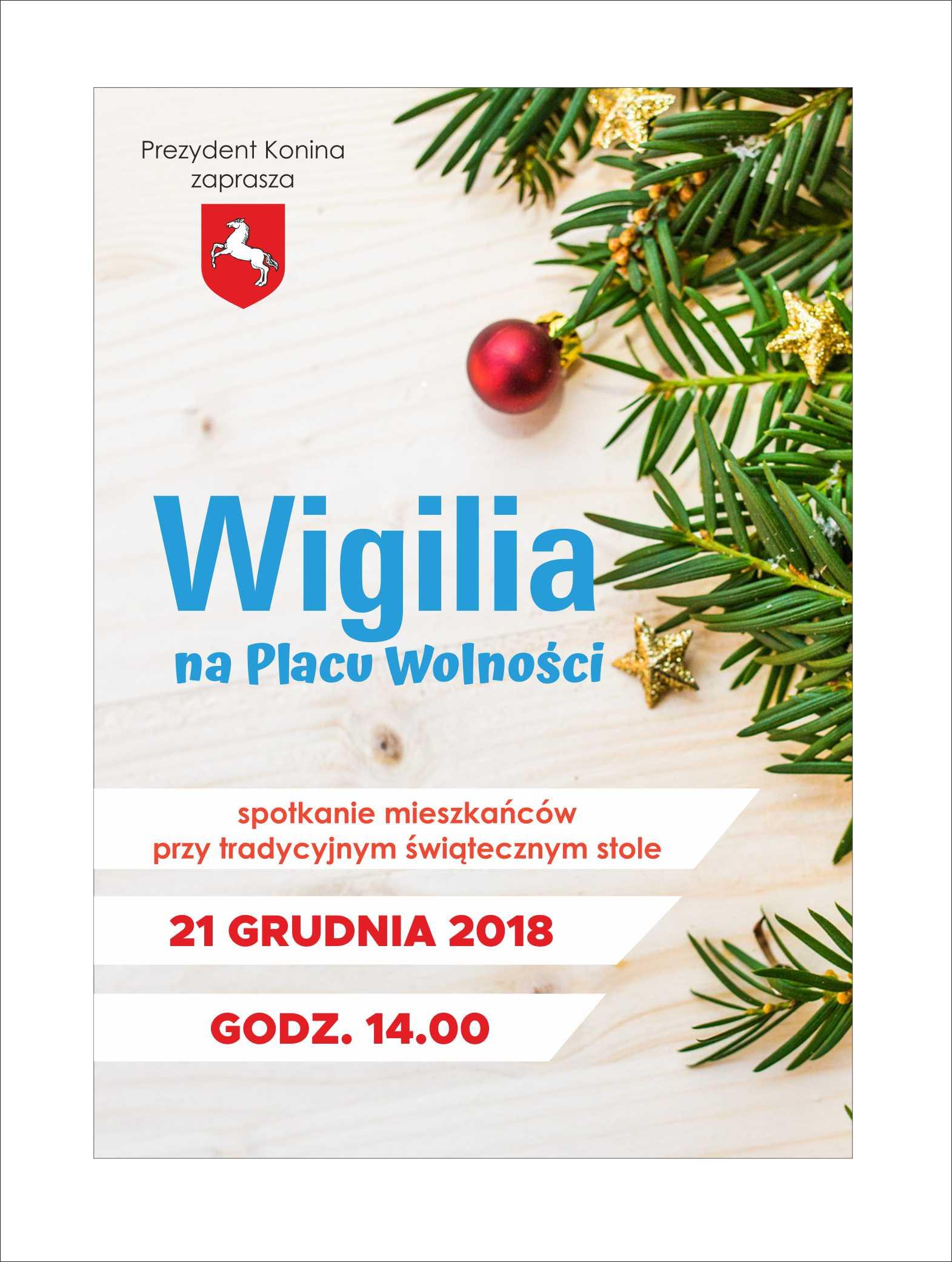 Kultura Zaproszenie Na Wigilię Miejską Konin24info